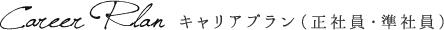 キャリアプラン(正社員・準社員)