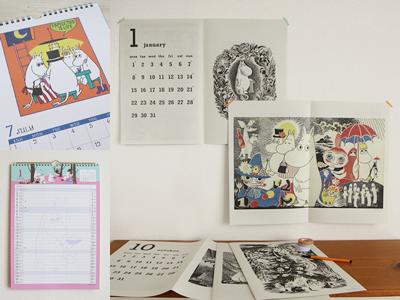 ムーミン タブロイド 家族カレンダー ファミリーカレンダー 原画 壁掛け