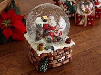 クリスマス スノードーム サンタ