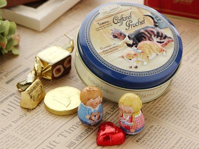 カファレル Caffarel チョコラティーノ缶 チョコレート ギフト 7粒入 ネコ