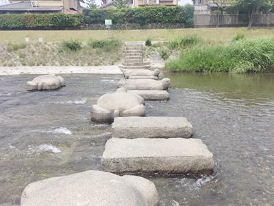 飛び石 高野川