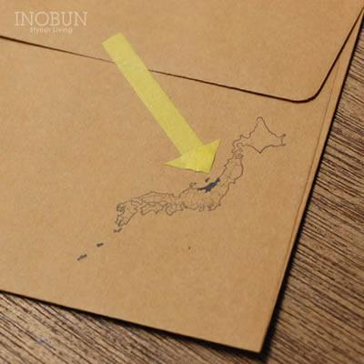 日本地図 ハンコ スタンプ