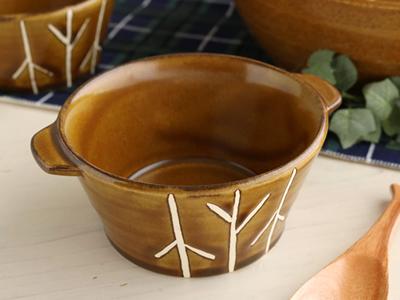 秋日和 ココット 萬古焼 とんすい 日本製 ブラウン