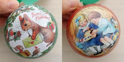 カファレル Caffarel クリスマス オーナメント缶 ボンナターレ・バンビーニ! チョコレート ギフト 5粒入
