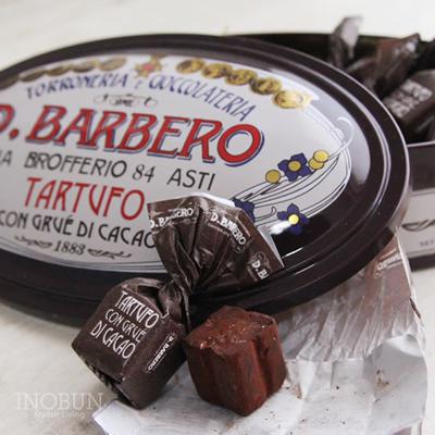 バルベロ D.BARBERO トリュフ茶缶 12粒 チョコレート ギフト