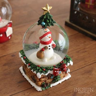 スノードーム Snow Globe ツリーハウス クリスマス M スノーマン