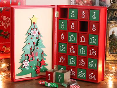 ウッドボックス アドベントカレンダー ブックタイプ