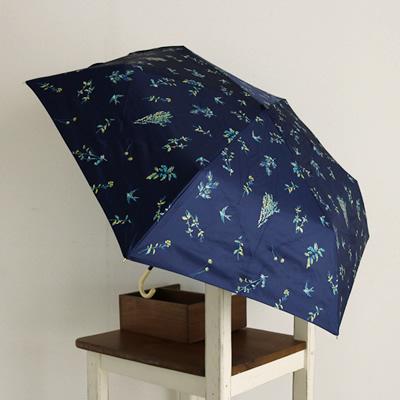 折りたたみ傘 遮光 野の花 mini 晴雨兼用 w.p.c ワールドパーティー 日傘 ネイビー