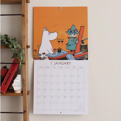 2021年 カレンダー ムーミン スクエアー ムーミンコミックス 壁掛け