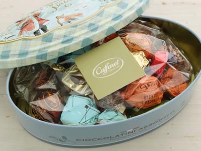 カファレル Caffarel クリスマス ノッテサンタ チョコレート 缶 ギフト 18粒入り
