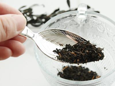 キャディースプーン 茶さじ ティー ステンレス(銀メッキ) ティーリーフ