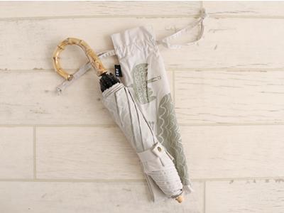 折りたたみ傘 バード bird ベージュ 晴雨兼用 392 plusm