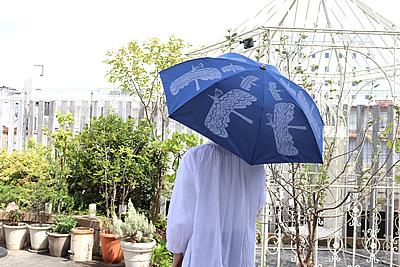 折りたたみ傘 バード bird ネイビー 晴雨兼用 392 plusm